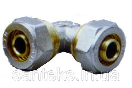Куточок металопластиковый 26 х 26 діаметр