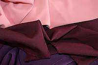 Винный. Ткань креп костюмка барби однотонная №308