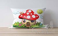 """Детская подушка с фото """"Грибной домик"""""""