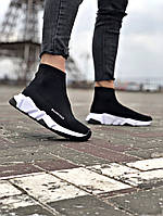 Кроссовки  женские Balenciaga. Стильные женские кроссовки черного цвета. ТОП качество!!!Реплика.
