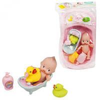 Игровой набор  Пупс с аксессуарами  (в розовой ванночке)
