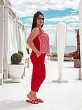 Красивый летний комбинированный  брючный костюм, разные цвета Р-р.48-50,52-54,56-58,60-62 Код 074Я, фото 2