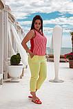 Красивый летний комбинированный  брючный костюм, разные цвета Р-р.48-50,52-54,56-58,60-62 Код 074Я, фото 5