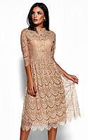 "Коктейльное платье Karree ""Шанти"" гипюровое миди (4 цвета, р.S,M,L)"