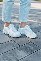 Nike M2K Tekno White Стильные кроссовки женские (Найк М2К Текно белые) Повседневные кроссы для бега