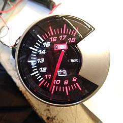 Вольтметр стрелочный Ket Gauge 602701 на ножке черный в корпусе Ø60мм врезной прибор датчик автомобильный