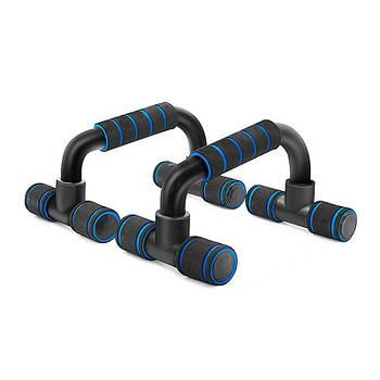 Упоры для отжиманий от пола Dobetters DBT-JF34 Blue + Black стойки для упражнений