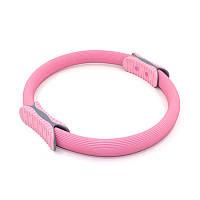 Эспандер кольцо для фитнеса и пилатеса Dobetters M1 Pink диаметр 38 см тренажер для рук ног бедер