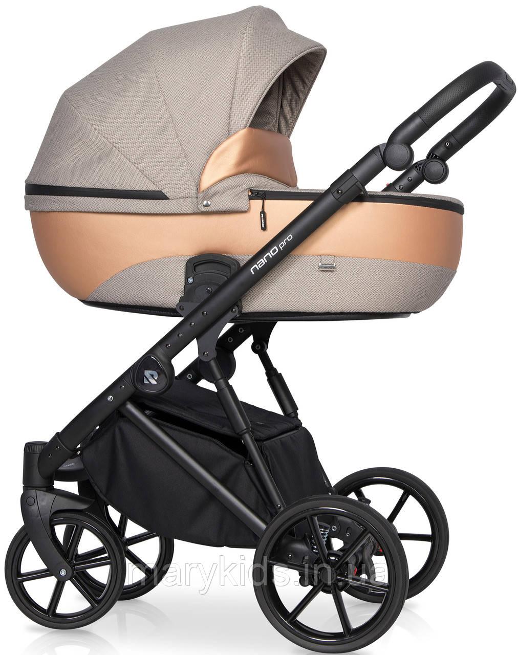 Детская универсальная коляска 3 в 1 Riko Nano Pro 04 Camel