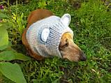 Снуд-шапка для собаки Мишка ручной работы,одежда для собаки ручной работы, фото 3