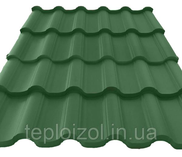 Металлочерепица Атика зелёная (Германия) 0,45мм