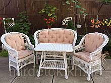 Набор мебели для дома и сада из натуральной лозы с матрасиками  Эко