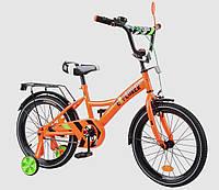 Велосипед детский двухколесный EXPLORER T-218110-ORANGE, 18 дюймов, оранжевый