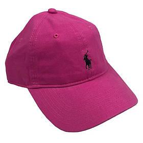 Бейсболка МК-1033 темно-розовый, черный лого