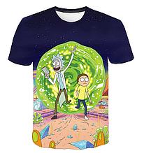 Яркая футболка  размера L рисунок Рик и Морти Rick and Morty Rick & Morty