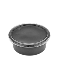 Супник с крышкой 115К, 250мл. Черный. Для хол./гор.блюд (разогрев в СВЧ), уп/50шт (1ящ/10уп/500шт)
