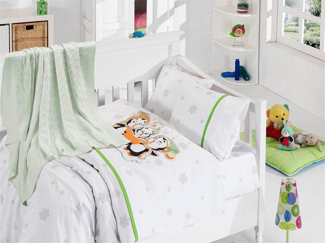 """Бамбук детское постельное белье набор """"Поющие пингвины"""""""