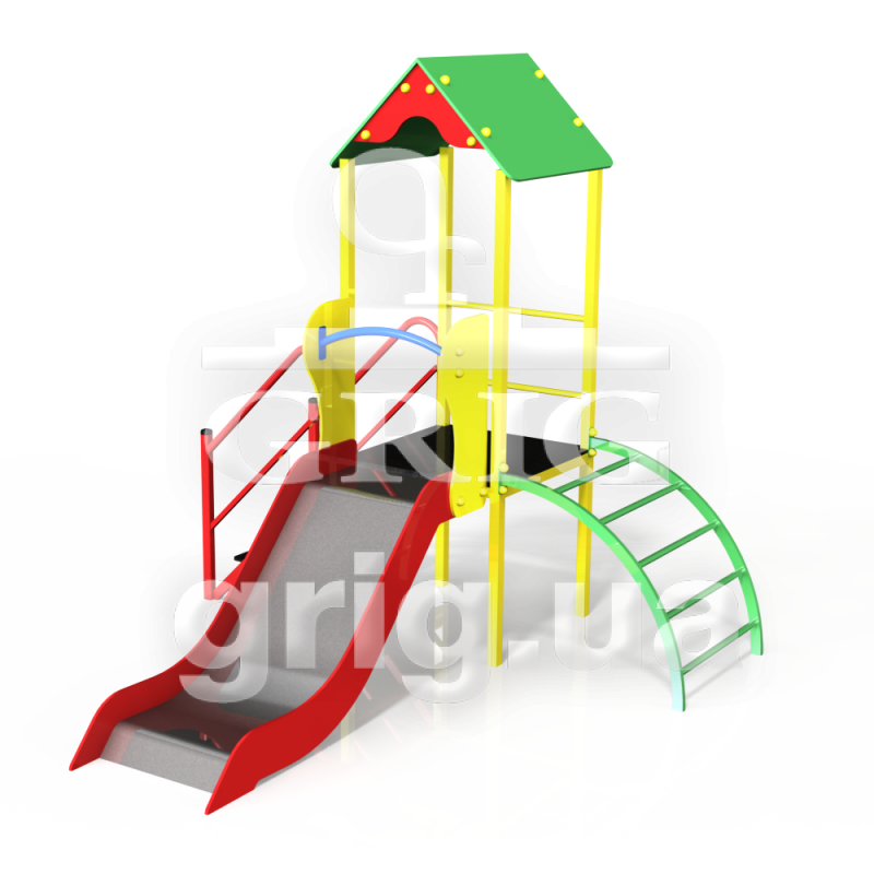 Детский игровой комплекс Карапуз с горкой h700