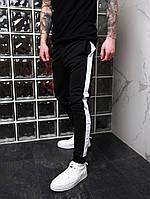 Мужские спортивные штаны с лампасами. (Black) черные