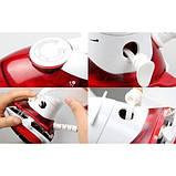 Отпариватель дорожный переносной компактный регулируемый с щёткой пароочиститель 2 в 1 утюг красный HT 558 B, фото 6