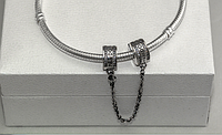 Подвеска стоперы на браслет Пандора Pandora серебро, фото 1
