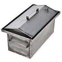 Коптильня горячего копчения 1мм 450х260х210мм с Гидрозатвором (коптилка,каптилка), фото 1