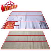 Подстилка пляжная солома 120x180 см, пляжный коврик, сумка подстилка для пикника