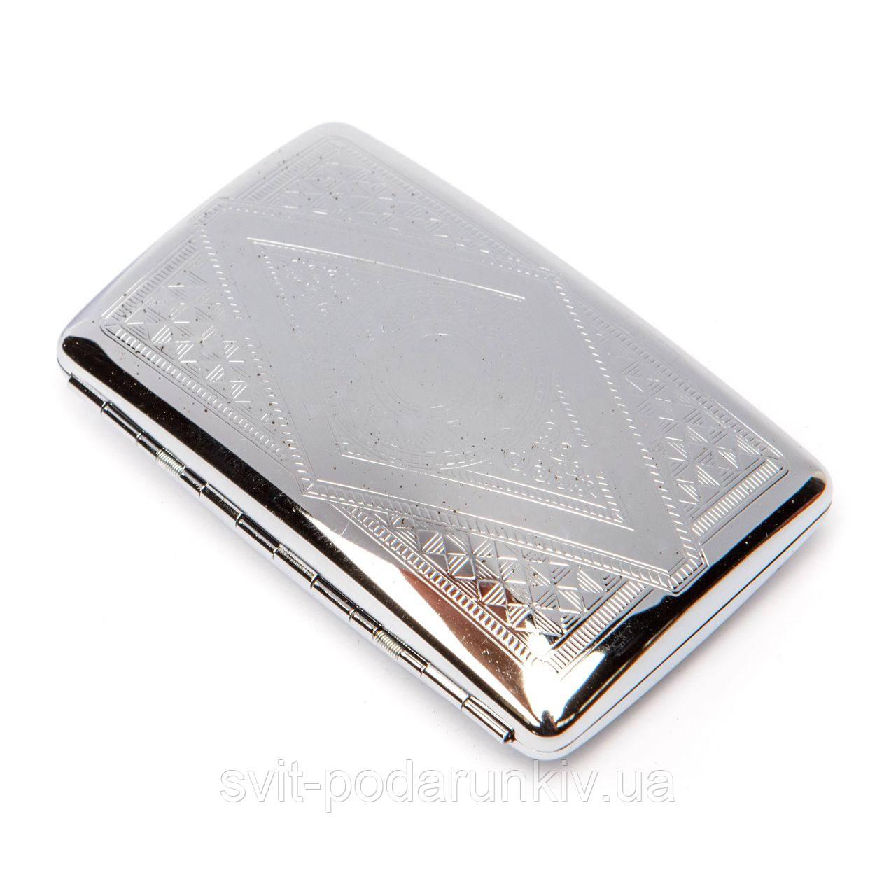 Портсигар металлический для 100 мм slim сигарет 200021-1