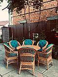 Набор мебели для большой семьи с круглым столом  из натуральной лозы Эко, фото 3