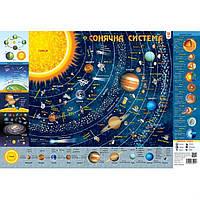 Плакат дитяча карта сонячної системи А1   Ранок