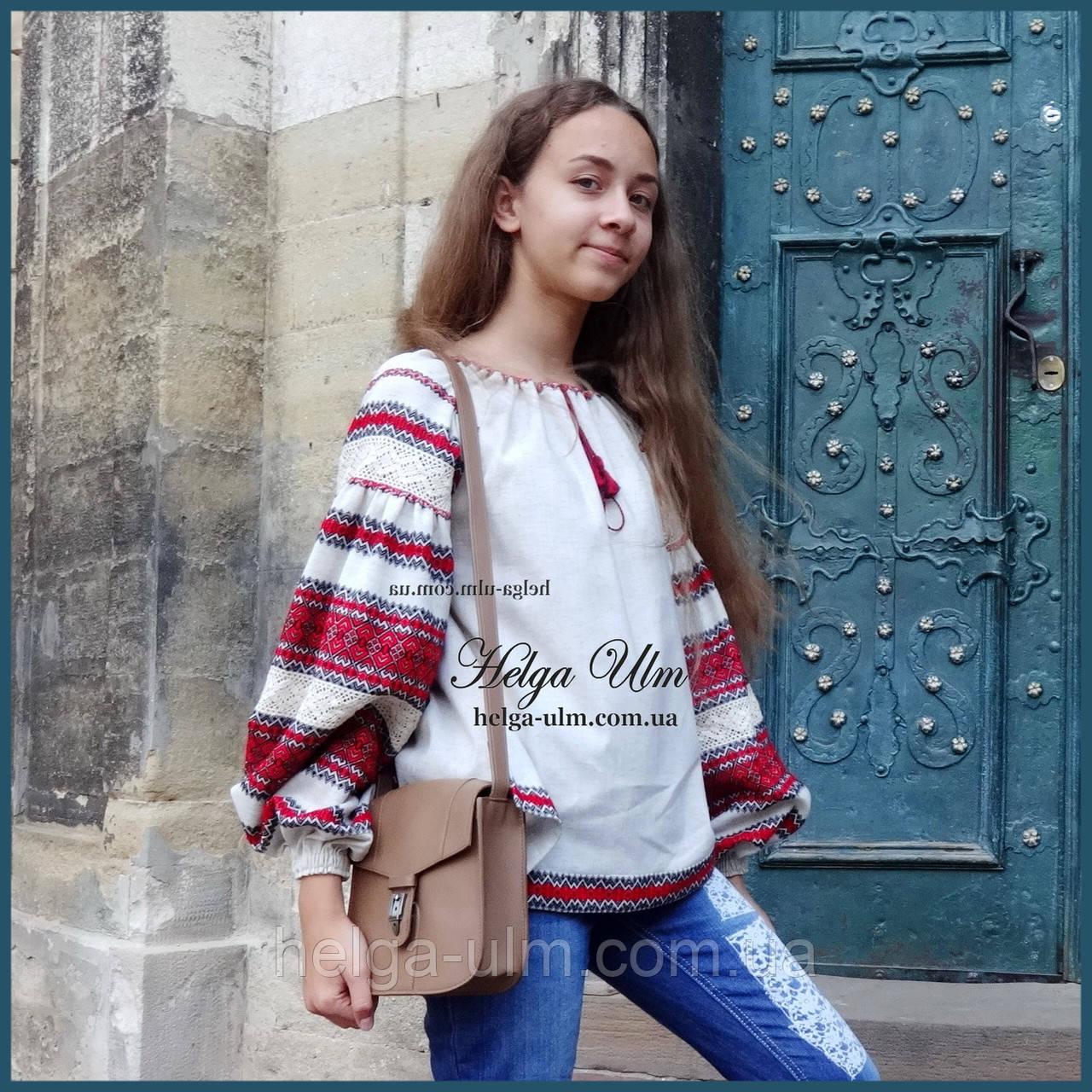 """Дитяча туніка-блуза з вишивкою і натуральним мереживом """"Катерина"""" - 98 р."""