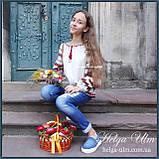 """Дитяча туніка-блуза з вишивкою і натуральним мереживом """"Катерина"""" - 98 р., фото 5"""