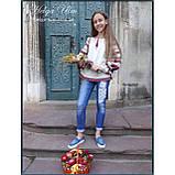 """Дитяча туніка-блуза з вишивкою і натуральним мереживом """"Катерина"""" - 98 р., фото 7"""