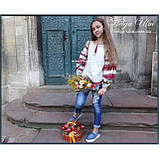 """Дитяча туніка-блуза з вишивкою і натуральним мереживом """"Катерина"""" - 98 р., фото 9"""