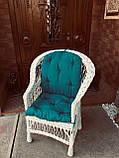 Кресло Классическое из натуральной лозы Эко белый, фото 2