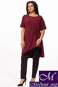 Женский нарядный брючный костюм большого размера (р. 50, 52, 54, 56, 58, 60, 62) арт. 29-225