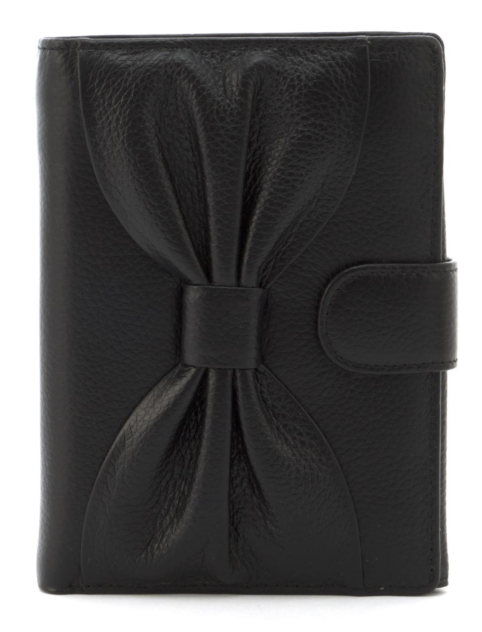 Невеликий жіночий гаманець гаманець з якісної натуральної шкіри SALFEITE art.12200 чорний