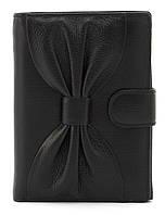 Невеликий жіночий гаманець гаманець з якісної натуральної шкіри SALFEITE art.12200 чорний, фото 1