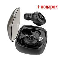 Беспроводные наушники блютуз гарнитура с экраном Bluetooth наушники 5.0 Wi-pods XG-8. Черные