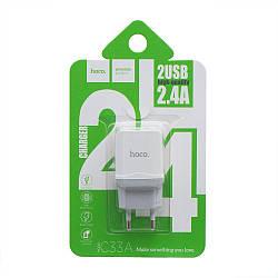 Сетевое Зарядное Устройство Hoco C33A 2 USB