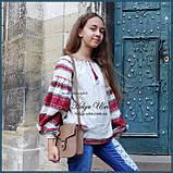 """Дитяча туніка-блуза з вишивкою і натуральним мереживом """"Катерина"""" - 128 р., фото 2"""