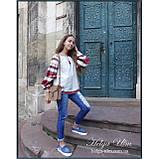"""Дитяча туніка-блуза з вишивкою і натуральним мереживом """"Катерина"""" - 128 р., фото 3"""