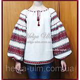 """Дитяча туніка-блуза з вишивкою і натуральним мереживом """"Катерина"""" - 128 р., фото 4"""
