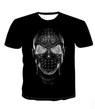 Яркая Летняя футболка 3D  размера XL 3d эффект притягивает взгляды большой рисунок