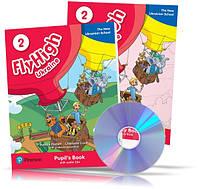 Fly High 2, Student's Book + Workbook + Audio CD UKRAINE edition / Учебник + Тетрадь английского языка