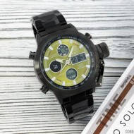 Мужские часы AMST 3003 Black-Green Metall