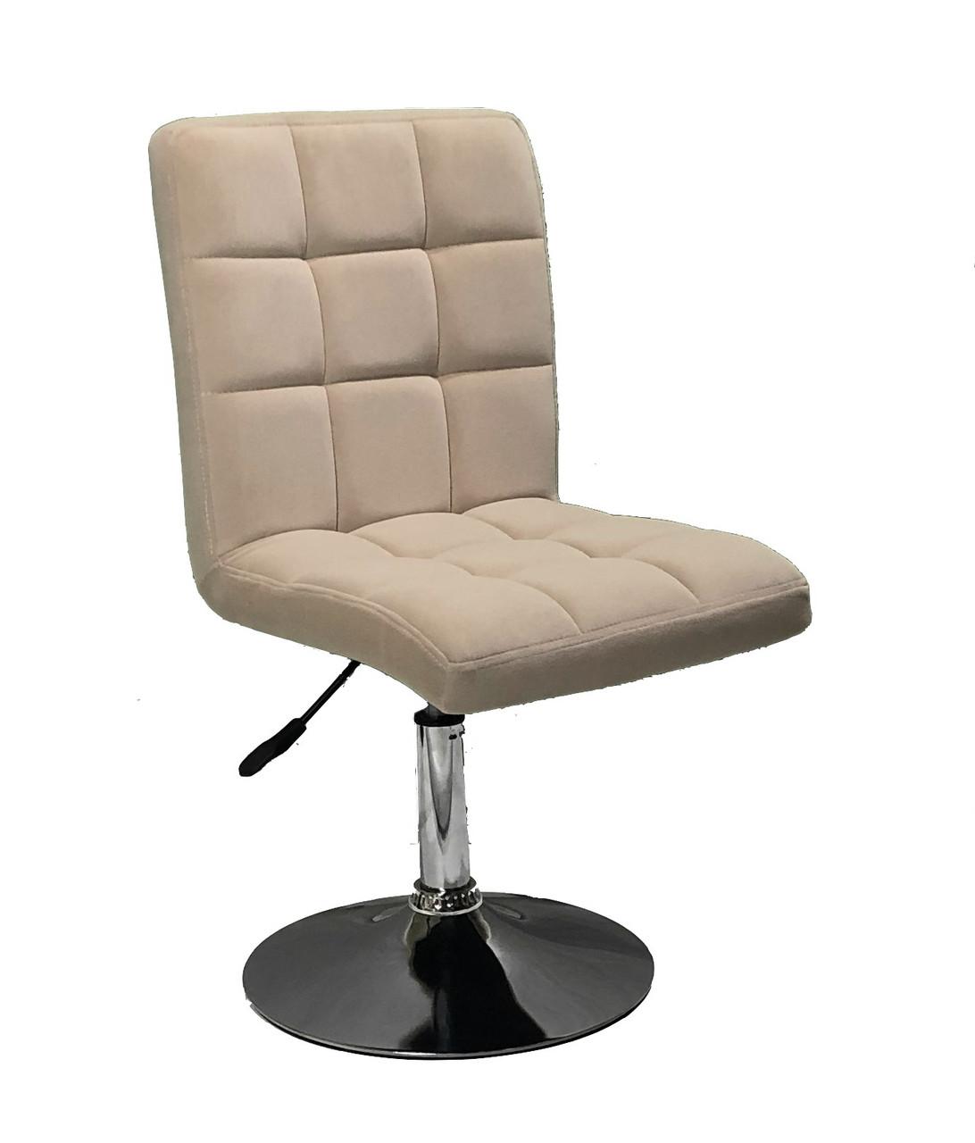 Кресло парикмахера Augusto (Августо) CH-BASE серый бархат, на блине