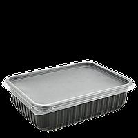 Контейнер прямоугольный Черный ПП 179-750Ч, 750мл, 179*132*46. Упаковка 50шт, (1ящ/10уп/500шт)