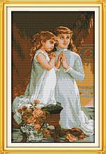 Набор для вышивания крестиком NKF Вечерняя молитва  R376 14ст