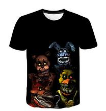 Яркая Летняя футболка 3D  размера L 3d эффект Five Nights at Freddy's большой рисунок
